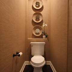 contemporary powder room by Kirsten Marie Inc, KMI