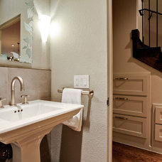 Contemporary Powder Room by Montgomery Custom Homes