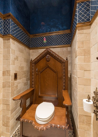 Traditional Powder Room by DSI-designs