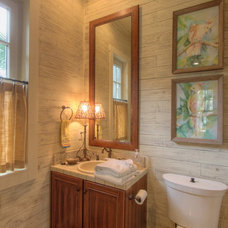 Traditional Powder Room by The Twelve Oaks Group