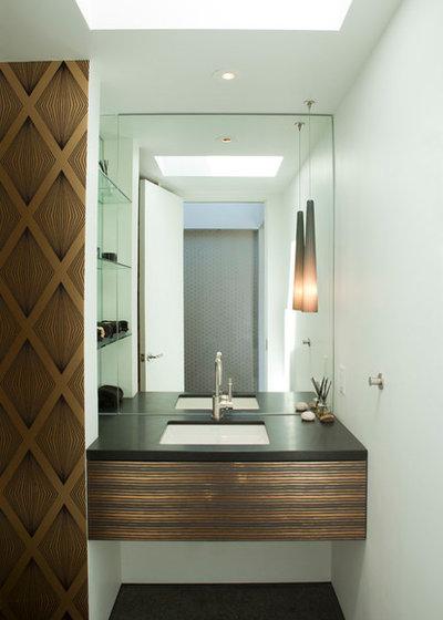 contemporaneo bagno di servizio by safdie rabines architects