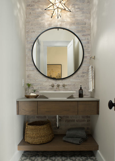 Fabulous Beach Style Powder Room by Tradewinds General Contracting Inc