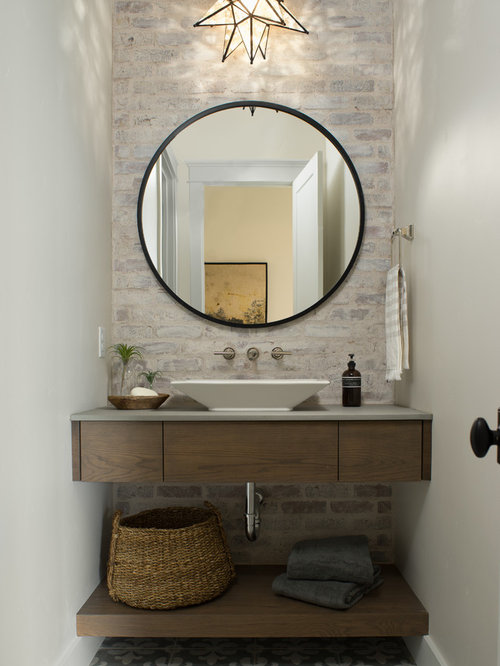 Best powder room design ideas remodel pictures houzz - Tiny powder room ideas ...