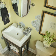 Eclectic Powder Room by Home Staging Specialists