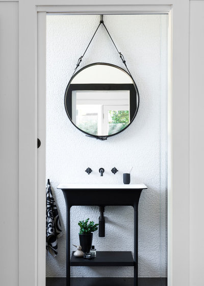 Transitional Powder Room by MINOSA