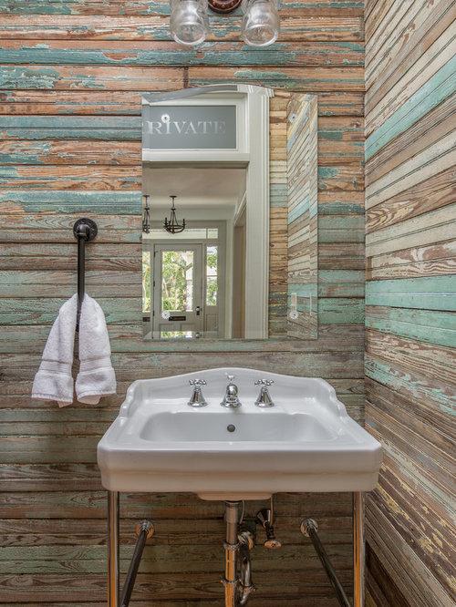 Bagno in campagna con pareti marroni foto idee arredamento - Bagno piastrelle marroni ...