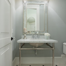 Traditional Powder Room by Maison Market