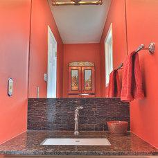 Contemporary Powder Room by Dalton Distinctive Renovations