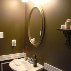 traditional powder room by Thrifty Decor Chick