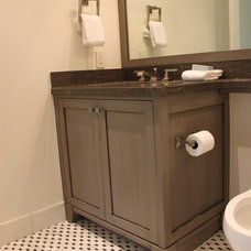 Traditional Powder Room by Diadem Finish Carpentry
