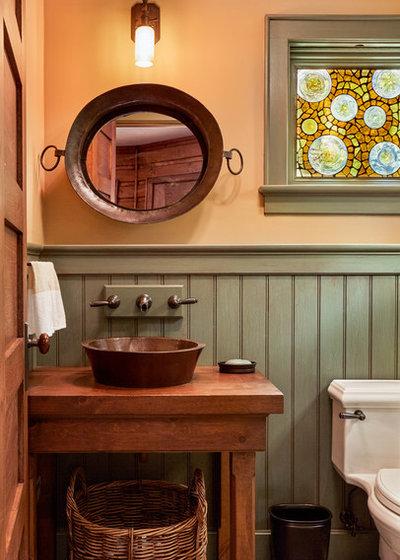 Rustic Powder Room by Ann Stillman O'Leary