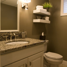 Traditional Powder Room by Shane D. Inman