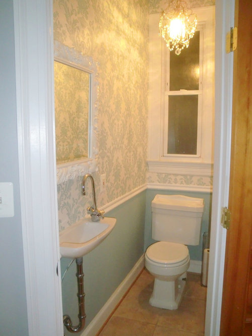 Tiny half bath home design ideas pictures remodel and decor Half bath ideas