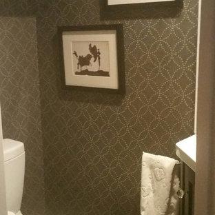 Идея дизайна: маленький туалет в викторианском стиле