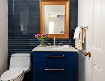 Tone on tone: powder bathroom redesign