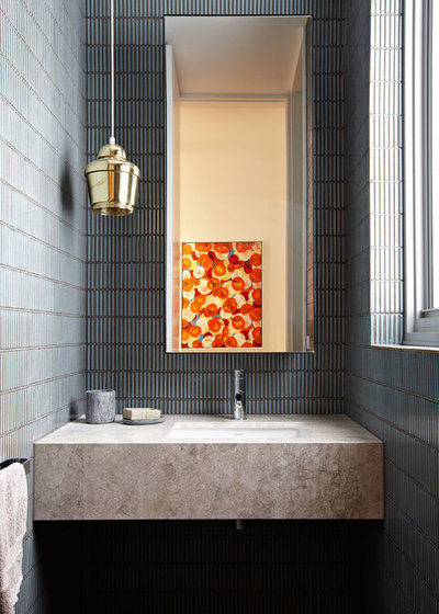 Contemporary Powder Room by Michael Downes - UA Creative