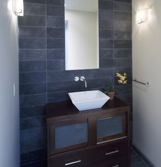 modern powder room by John Lum Architecture, Inc. AIA