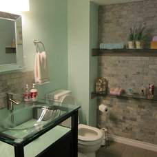 Contemporary Powder Room by Novacon Construction Inc