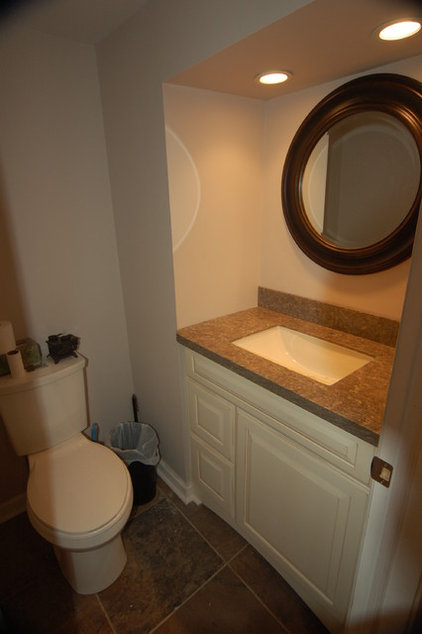 Traditional Powder Room by Lowe's of Warrington, PA