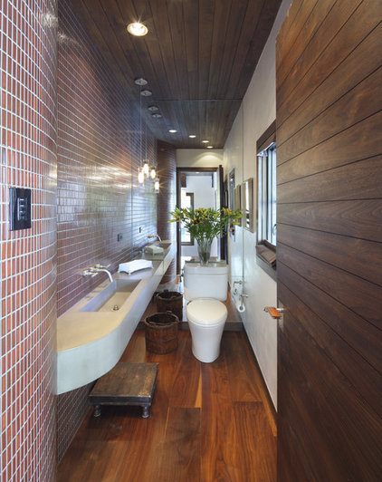 Contemporary Powder Room by TruLinea Architects Inc.