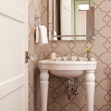 Traditional Powder Room by REFINED LLC
