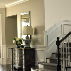 Traditional Powder Room by Dunn-Edwards Paints