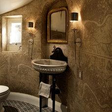 Traditional Powder Room by Candelaria Design Associates