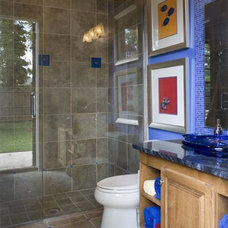 Traditional Powder Room by PSG Construction