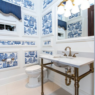 75 Most Por Traditional Home Design Ideas & Photos | Houzz ... Blue And White Traditional Home Design Ideas on cottage style design ideas, upholstered headboard design ideas, chalkboard paint design ideas, lake house design ideas, red kitchen design ideas,
