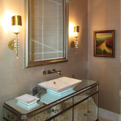 traditional powder room by Alison Mountain Interior Design