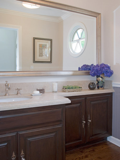 Inspiration For A Timeless Powder Room Remodel In Los Angeles With An Undermount Sink