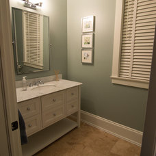 Traditional Powder Room by Craftsman Construction