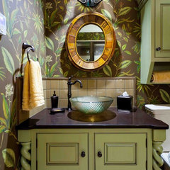 traditional powder room by Custer Design Group