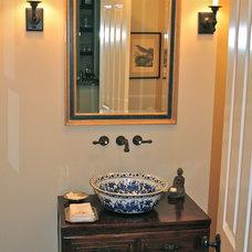Traditional Powder Room by Dayna Katlin Interiors