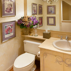 Traditional Powder Room by DK Interiors