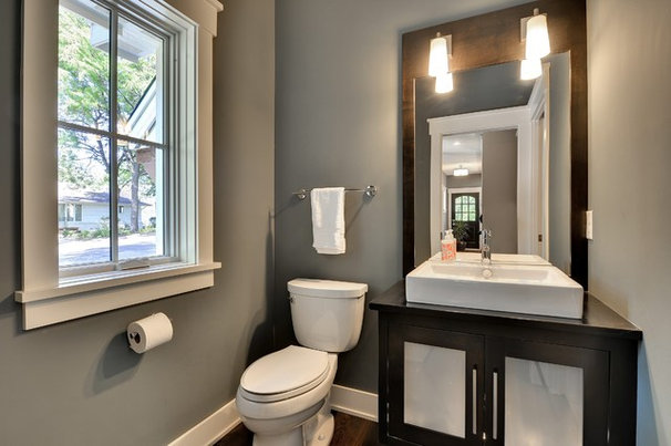 Traditional Powder Room by Highmark Builders