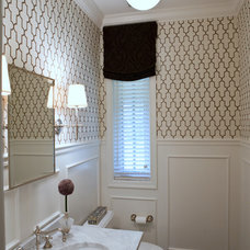 Traditional Powder Room by Jenkins Baer Associates