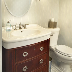 eclectic powder room by Kristin Petro Interiors, Inc.