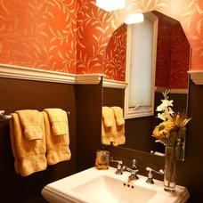 Traditional Powder Room by Lisa Wolfe Design, Ltd