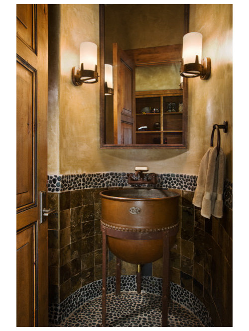Wonderful Unique Powder Rooms Part - 7: Example Of A Classic Powder Room Design In Other