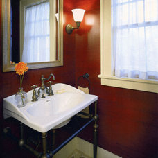 Traditional Powder Room by knowles ps