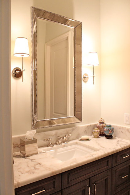 Traditional Powder Room by Nadia Watts Interior Design