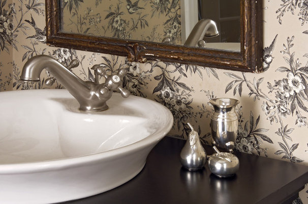 Traditional Powder Room by Paula Grace Designs, Inc.