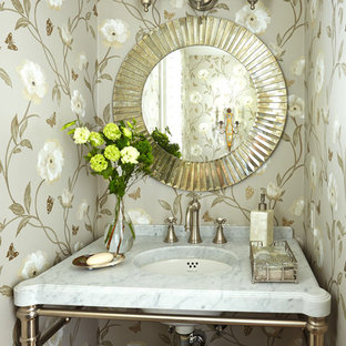 Elegant powder room photo in Other