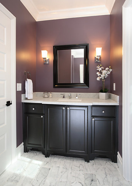 traditional powder room by Precision Cabinets & Trim