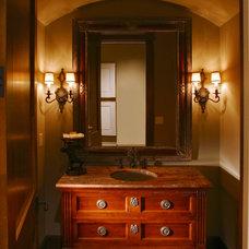 Traditional Powder Room by Sharratt Design & Company
