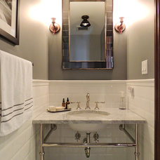 Traditional Powder Room by SHOPHOUSE