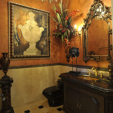 Traditional Powder Room by The Design Firm