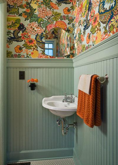 Klassisk Toalett Traditional Powder Room