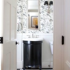 Traditional Powder Room by Wilson Kelsey Design